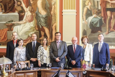 Univerzitné udalosti » Signing the Memorandum of Understanding with Budapest Business School