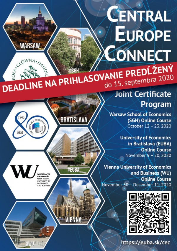 Central Europe Connect 2020 - deadline predĺžený do 15. septembra 2020